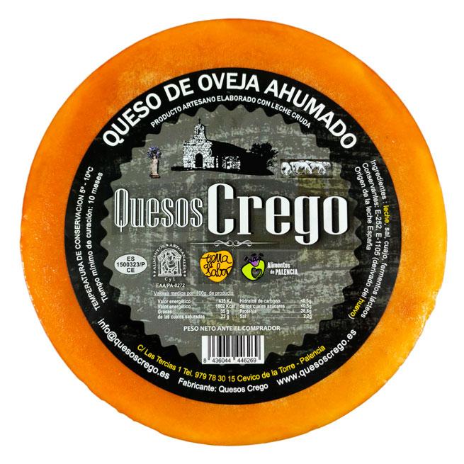 Queso Ahumado Entero - Quesos Crego - Cevico la Torre - Palencia