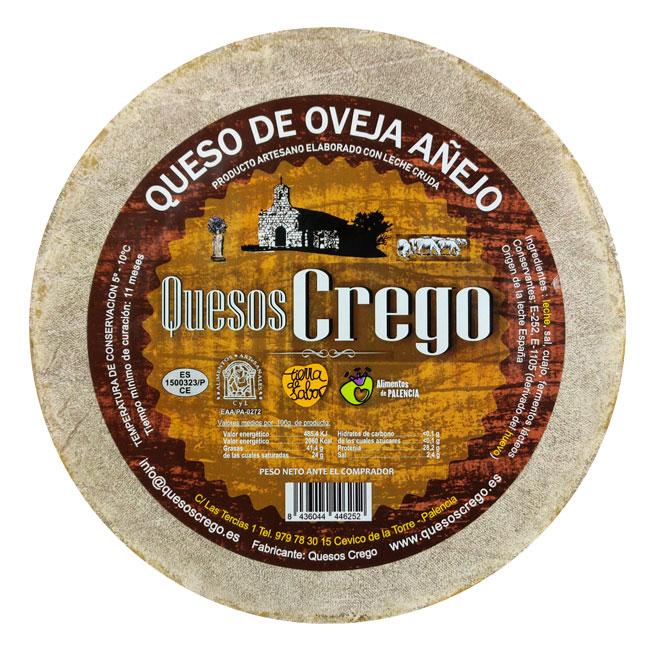 Queso Añejo Entero - Quesos Crego - Cevico la Torre - Palencia