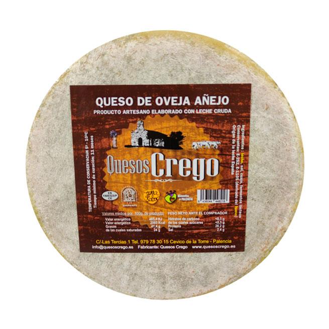 Queso Añejo Pequeño - Quesos Crego - Cevico la Torre - Palencia