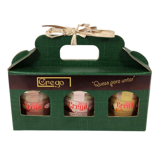 Estuche degustación 2 cremas de queso - Quesos Crego - Cevico la Torre - Palencia