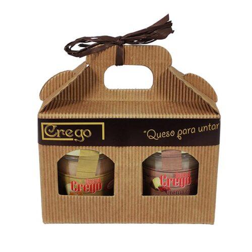 Estuche degustación cremas de queso - Quesos Crego - Cevico la Torre - Palencia