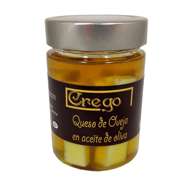 Queso de Oveja en Aceite - Quesos Crego - Cevico la Torre - Palencia
