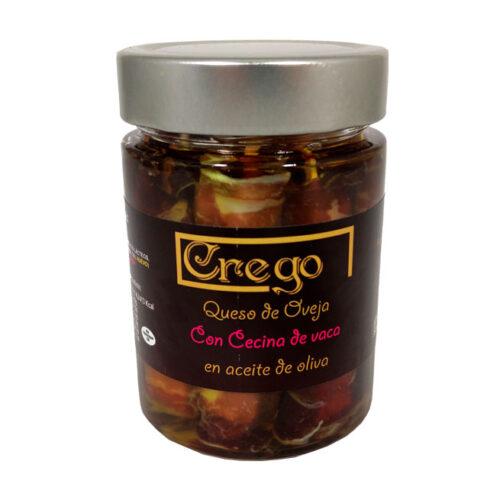 Queso de Oveja en Aceite con Cecina - Quesos Crego - Cevico la Torre - Palencia
